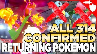 Download ALL 314 CONFIRMED Returning Pokemon in Sword & Shield. Galar Pokedex Leaked Video