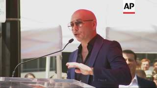 Download Pitbull gets star on walk of fame and speaks on Trump Video