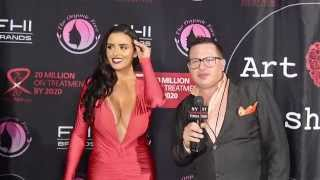 Download Abi Ratchford at Art Hearts Fashion Week Red Carpet Video