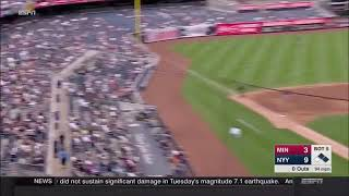 Download CHILD GETS HIT WITH TODD FRAZIER FOUL BALL LINE DRIVE AT YANKEE STADIUM - Yankees v Twins Video