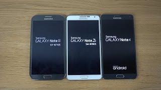 Download Samsung Galaxy Note 4 vs. Samsung Galaxy Note 3 vs. Samsung Galaxy Note 2 - Which Is Faster? (4K) Video