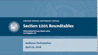 Download Seventh Triennial Section 1201 Rulemaking Hearings: Los Angeles, CA (April 25, 2018) - Audience Video