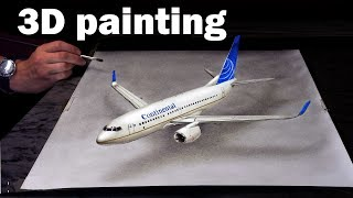 Download Painting of a Plain in 3D /Trick Art Continental Video