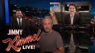 Download Jon Stewart Crashes Jimmy Kimmel's Interview with Bar Mitzvah Kid Video