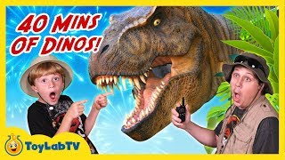 Download Giant Dinosaur Adventures! 40 Minutes of Dinosaurs with T-Rex in Fun Kids Video with Toys Video