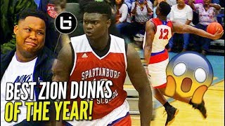 Download Zion Williamson IS UNREAL! TOP DUNKS OF SENIOR YEAR! WINDMILLS, 360s, BETWEEN THE LEGS! NOT Human! Video