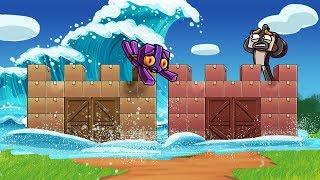Download Minecraft - TSUNAMI BOX FORT CHALLENGE - Ultimate Base! (Tsunami vs Box Fort) Video