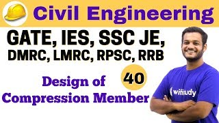 Download 3:00 PM - Civil by Nikhil Sir | Day #40 | Design of Compression Member Video