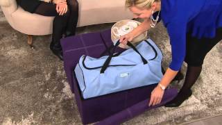 Download Microsuede 30″ Folding Storage Bench by FHE with Kerstin Lindquist Video