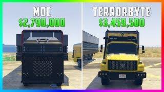 Download GTA 5 Online - Terrorbyte Vs Mobile Operations Center ($3,459,500 Vs $2,790,000) Video