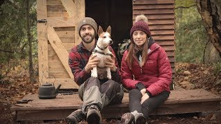 Download Her First Time at the Cabin: Woodstove Cooking (Off Grid Pallet Wood Cabin) Video