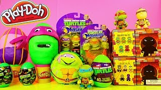 Download TMNT Play Doh Surprise Eggs Teenage Mutant Ninja Turtles Mashems Toys By Disney Cars Toy Club Video