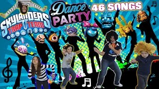 Download Dad & Kids have a Dance Party to 46 Songs!! (Dancing 2 All Skylanders Trap Team Villains Music) Video