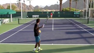 Download Gael Monfils Practice 2016 BNP Paribas Open Indian Wells Video