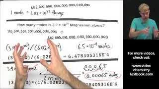 Download Converting between Moles, Atoms, and Molecules (Part 2) Video