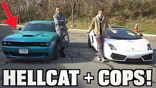 Download Racing Tall Guy Car Reviews HELLCAT + COPS!! Video