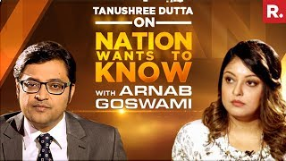 Download Tanushree Dutta Opens Up To Arnab Goswami On Nation Wants To Know | Full Episode Video