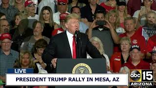 Download FULL RAW: President Trump ignites crowd at during speech at Make America Great Again Rally in AZ Video