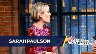 Download Sarah Paulson Got Freaked Out by a Pilot Whispering Her Name Video