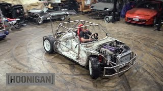 Download [HOONIGAN] DT 211: $200 Miata Kart Build [Part 10] Shartkart Rips The Shop Apart #DANLINE Video