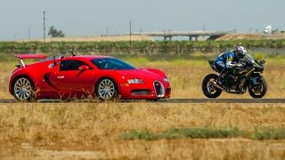 Download Kawasaki Ninja H2r vs Bugatti Veyron Drag Race 2016 Lamborghini Aventador vs F16 Fighting Falcon Video
