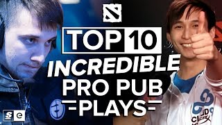 Download The Top 10 Incredible Pro Pub Plays in Dota 2 Video
