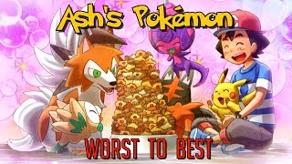 Download All of Ash Ketchum's Pokemon Ranked from Worst to Best Video