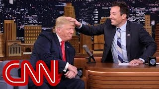 Download Donald Trump lets Jimmy Fallon mess up his hair Video