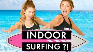 Download LAUREN ELIZABETH & OLIVIA JADE TRY INDOOR SURFING?! LA Made w/ Olivia Jade Video