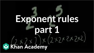 Download Exponent rules part 1 | Exponents, radicals, and scientific notation | Pre-Algebra | Khan Academy Video