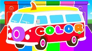 Download FUNNY BUS & COLORS for Kids - Cars Learning Educational Video - Superheroes for babies toddlers Video