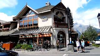 Download Banff Town Streets and Shops Walking in Summer - Awesome Summer Day 1 Video