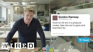 Download Gordon Ramsay Answers Cooking Questions From Twitter | Tech Support | WIRED Video