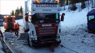 Download Truck accident. Norway, Road 3, Koppang Video