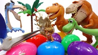 Download Let's Open Surprise Eggs With Good Dinosaur~! Video