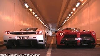 Download LaFerrari vs Ferrari Enzo INSANE Rev Battle! Video