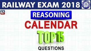Download Calendar | Top 15 Questions | RRB | Railway ALP / Group D 2018 | Reasoning | Live at 5 PM Video