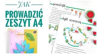 Download JAK PROWADZIĆ PIĘKNY ZESZYT A4? (Organizacja, lifehacki, przechowywanie, triki) Back to School Video
