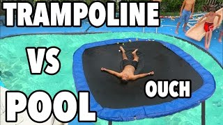 Download TRAMPOLINE VS POOL!!! Video