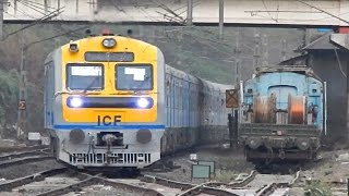 Download Daund - Pune DEMU arriving at Hadapsar at the twilight | Rail-fanning with a kid!! Video