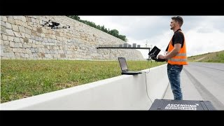 Download UAV- / Drone-based retaining wall inspection – civil engineering Video