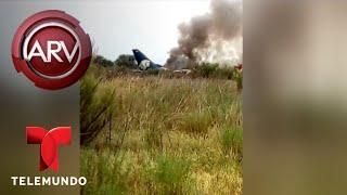Download Cae avión de Aeroméxico en Durango   Al Rojo Vivo   Telemundo Video