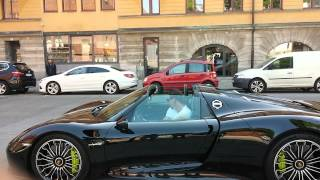 Download Zlatan Ibrahimovic Porsche 918 Spyder in Stockholm Video