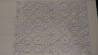 Download Nakshi Kantha Design drawing tutorial 124 , নকশীকাঁথা নকশা,How to drawing nakshi kantha design Video
