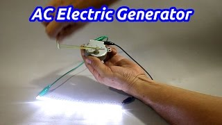 Download Mini AC Electrical Generator from Microwave Oven Motor Video