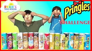 Download PRINGLES CHALLENGE! Potato Chip Flavors Tasting Contest Ryan ToysReview Video