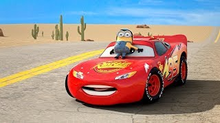 Download Minion on Lightning McQueen's Hood?? Series 1 of Disney Pixar Cars COLLECTION Frozen Ice-Mater Movie Video