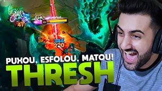 Download THRESH JUNGLE COM COLHEITA! *PUXOU, ESFOLOU, MATOU!* - League of Legends Video