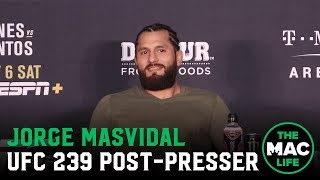 Download UFC 239 Post-Fight Press Conference: Jorge Masvidal talks record fast KO over Ben Askren Video