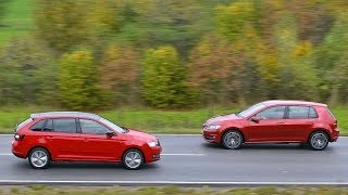Download Skoda Rapid Spaceback vs. VW Golf VII Video